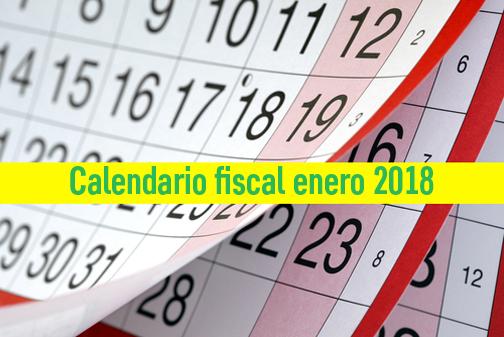 Aeat Calendario Fiscal 2020.Calendario Fiscal Impuestos Mes De Enero 2018 Cevi