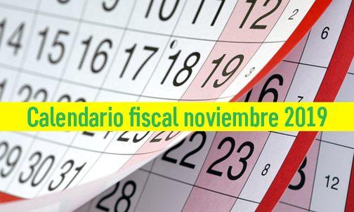 Obligaciones tributarias del mes de noviembre 2019